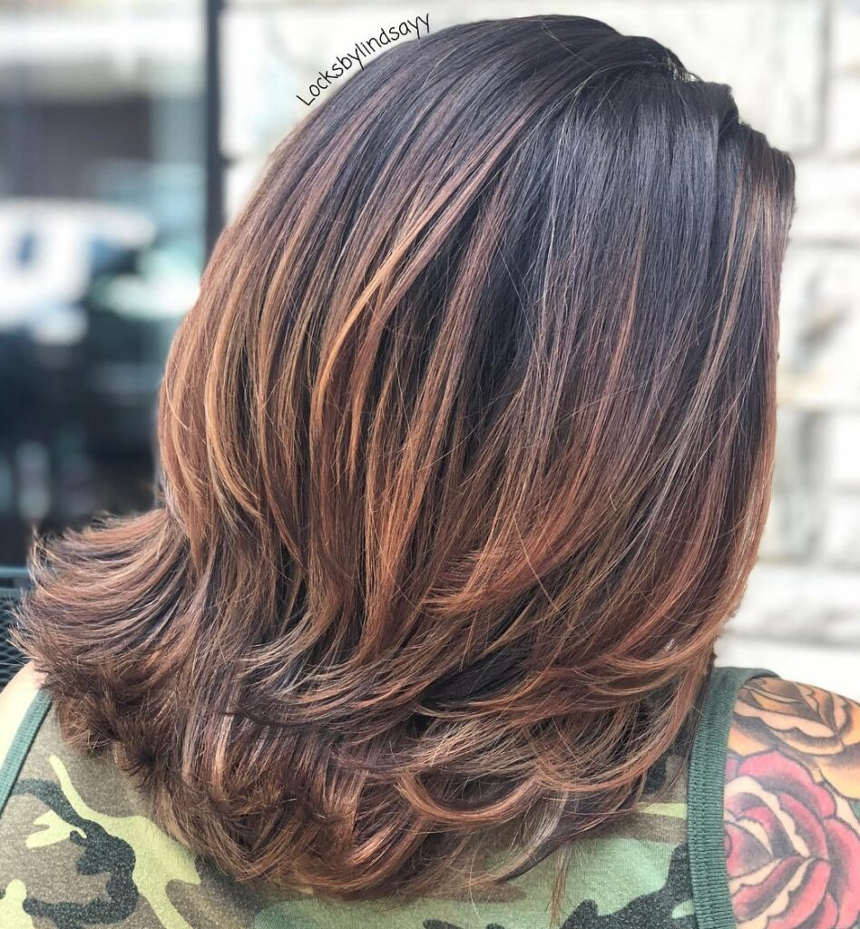 The Layered Hairstyle for female pattern baldness
